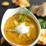 Pumpkin Carrot soup with ginger