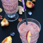 Gingered Plum Blueberry smoothie