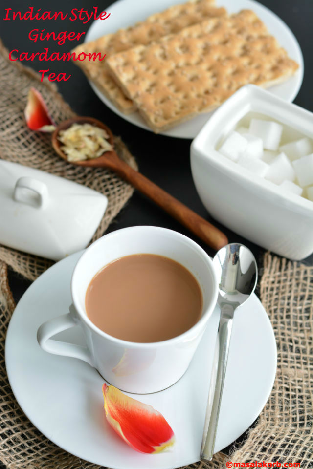 Indian Style Ginger Cardamom Tea - Masalakorb