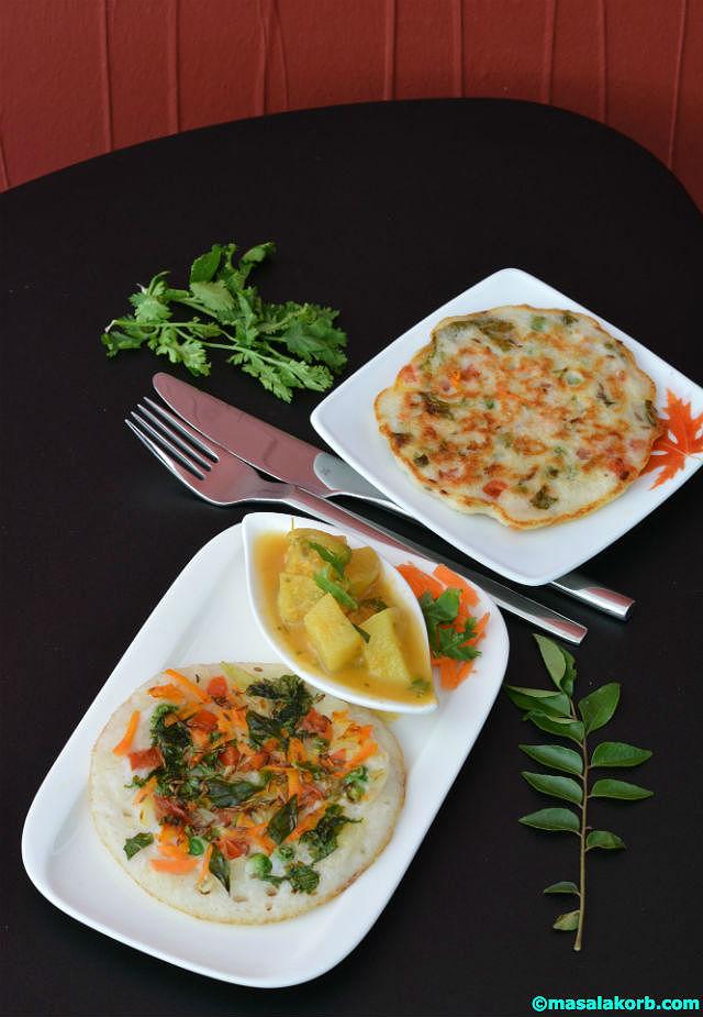 Vegetable Uthappam V2