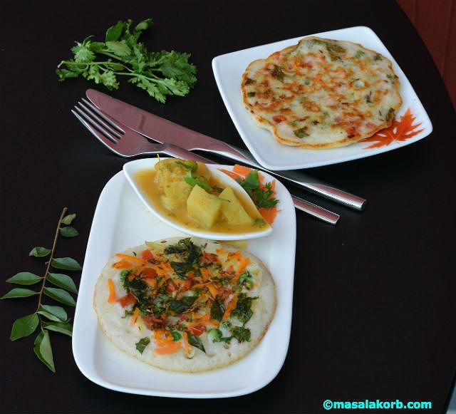 Vegetable Uthappam V3