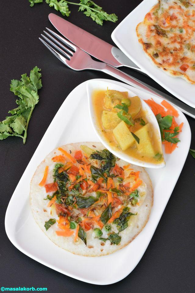 Vegetable Uthappam V4