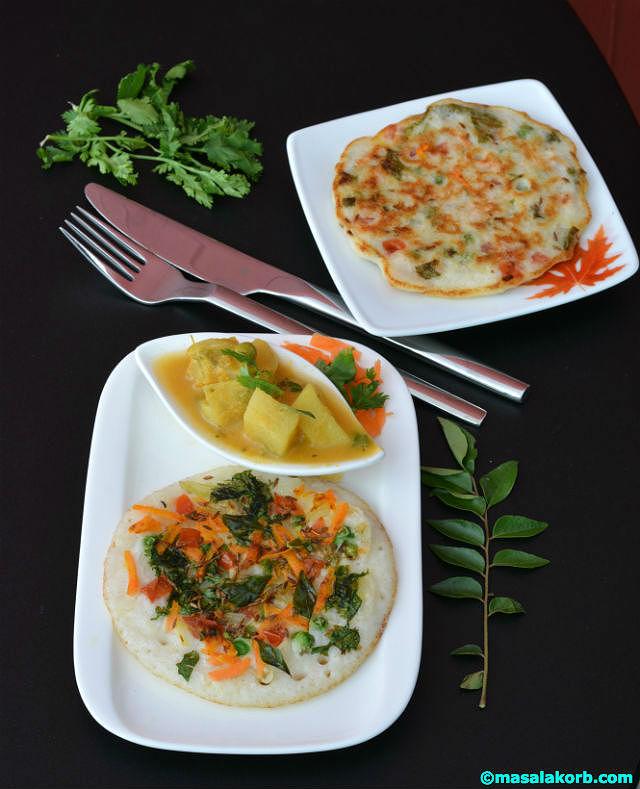 Vegetable Uthappam V5