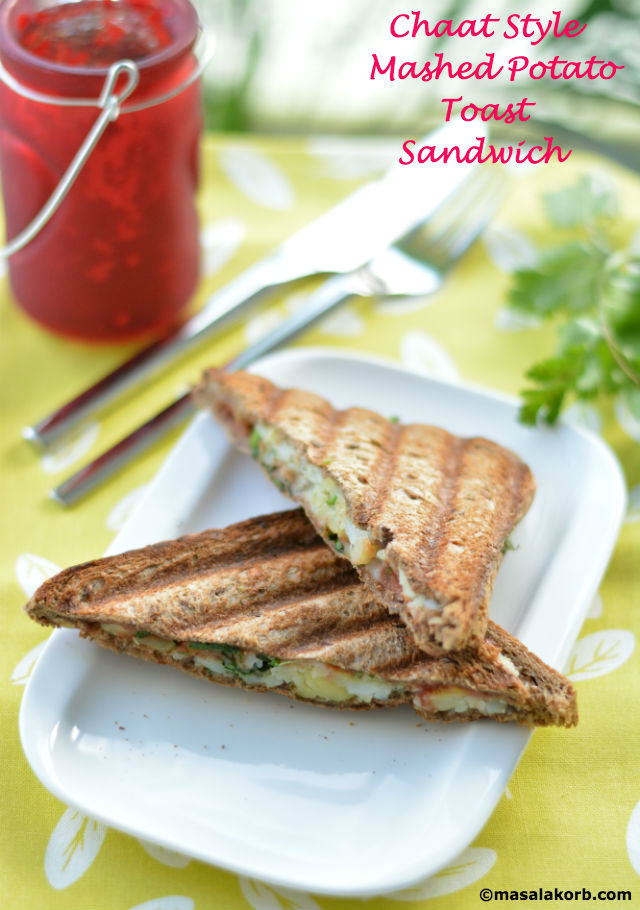 Chaat Style Mashed Potato Toast Sandwich V1