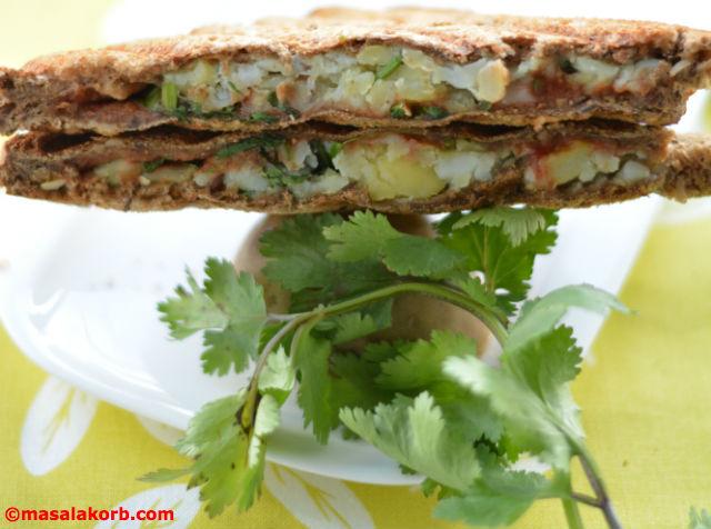 Chaat Style Mashed Potato Toast Sandwich V6