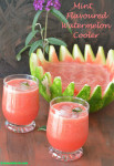 Mint flavoured watermelon cooler