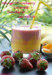 Mango Strawberry Layered breakfast Smoothie