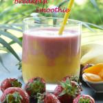 Mango Strawberry Layered Breakfast Smoothie