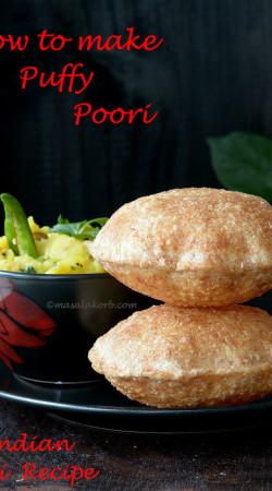 How to make puffy poori Indian Puri Recipe V1n1