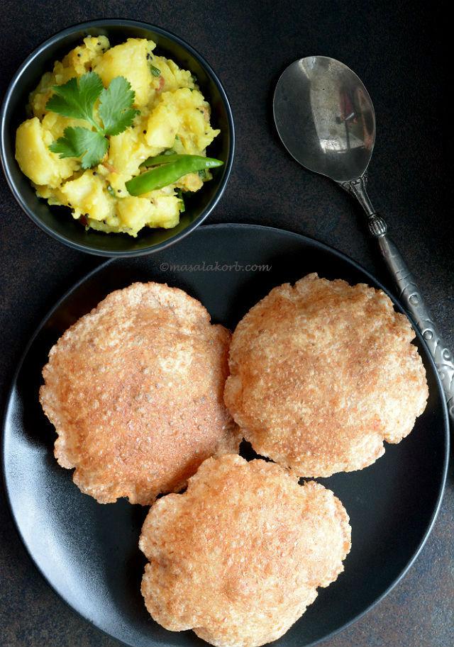 How to make puffy poori   Indian Puri Recipe V2