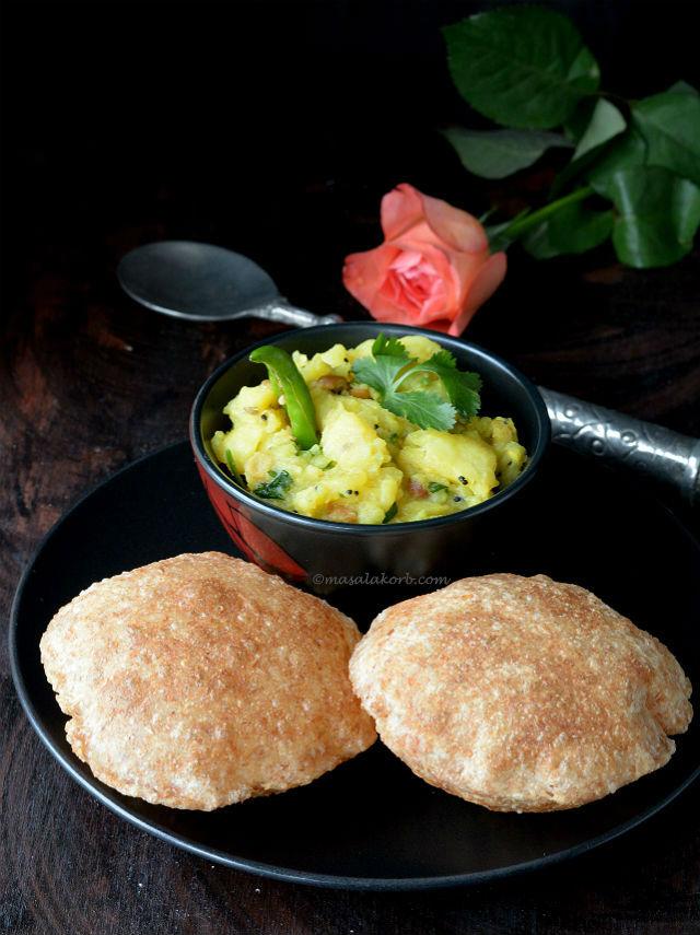 How to make puffy poori   Indian Puri Recipe V7