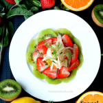 Fennel Citrus Salad with Minted Strawberries & Kiwi – Spring Fruit Salad