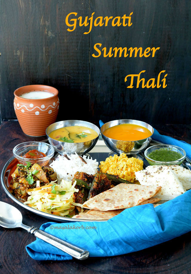 Gujarati summer thali traditional gujarati food recipes gujarati summer thali traditional gujarati food recipes gujarati cuisine forumfinder Image collections