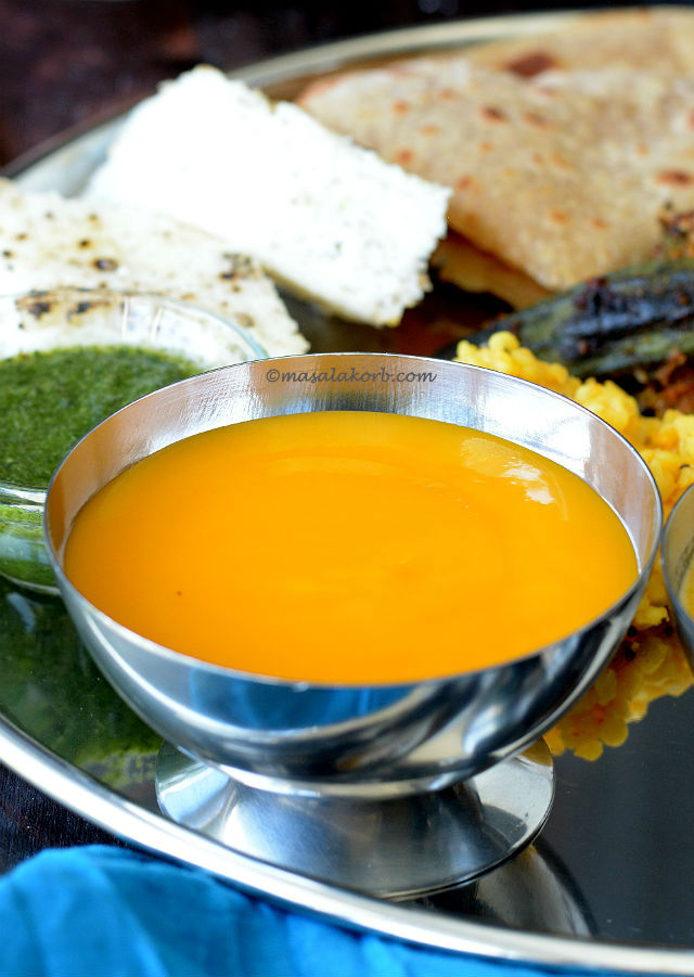 Aamras or Amras or Mango pulp