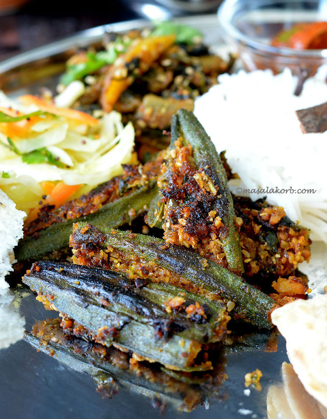 Stuffed Okra or Bhindi sambhariya