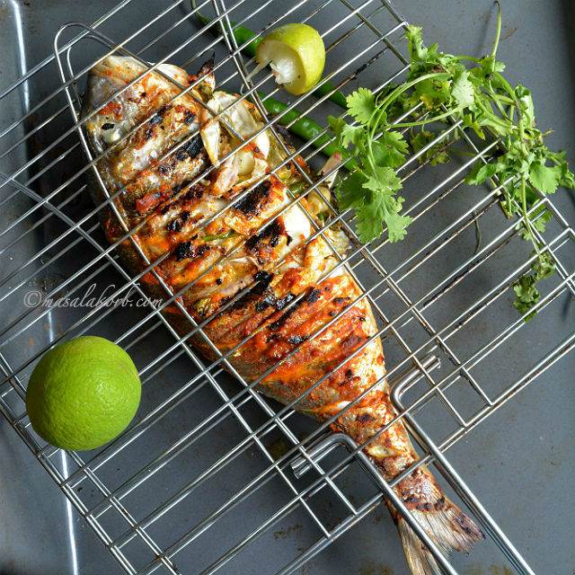 Grilled Fish Indian Recipe | Spicy Grilled Fish Indian Style | Grilled ...