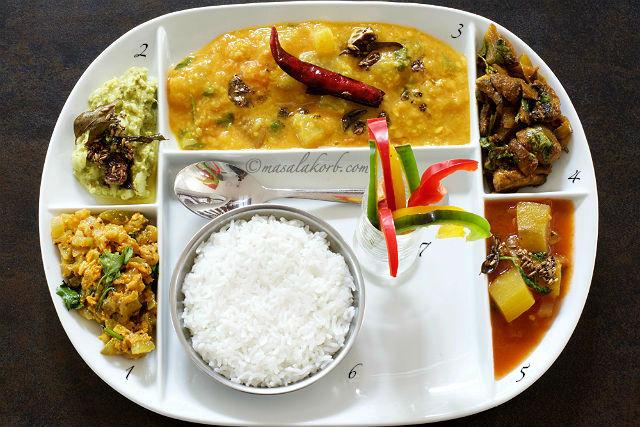 South Indian Vegetarian Lunch Menu 2 Andhra Lunch Menu Masalakorb