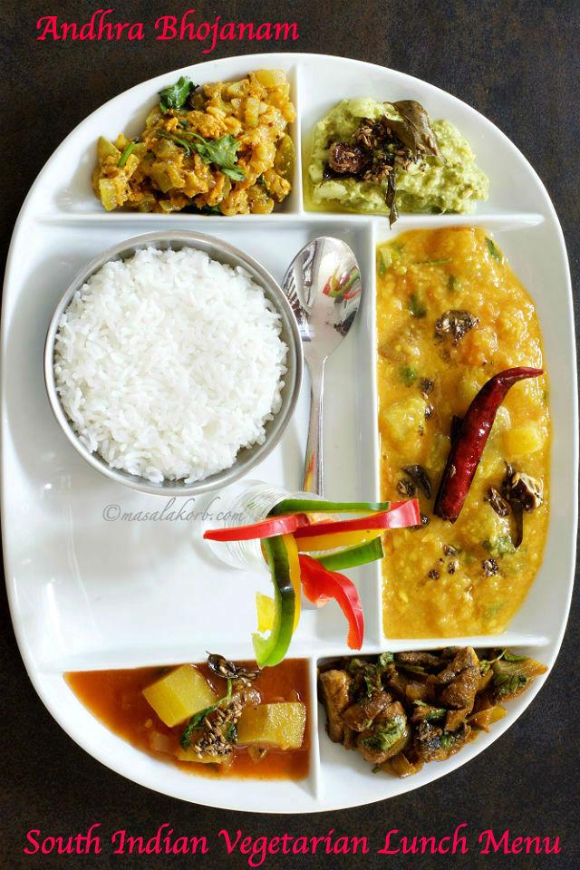 South indian vegetarian lunch menu andhra lunch menu for Andhra cuisine vegetarian