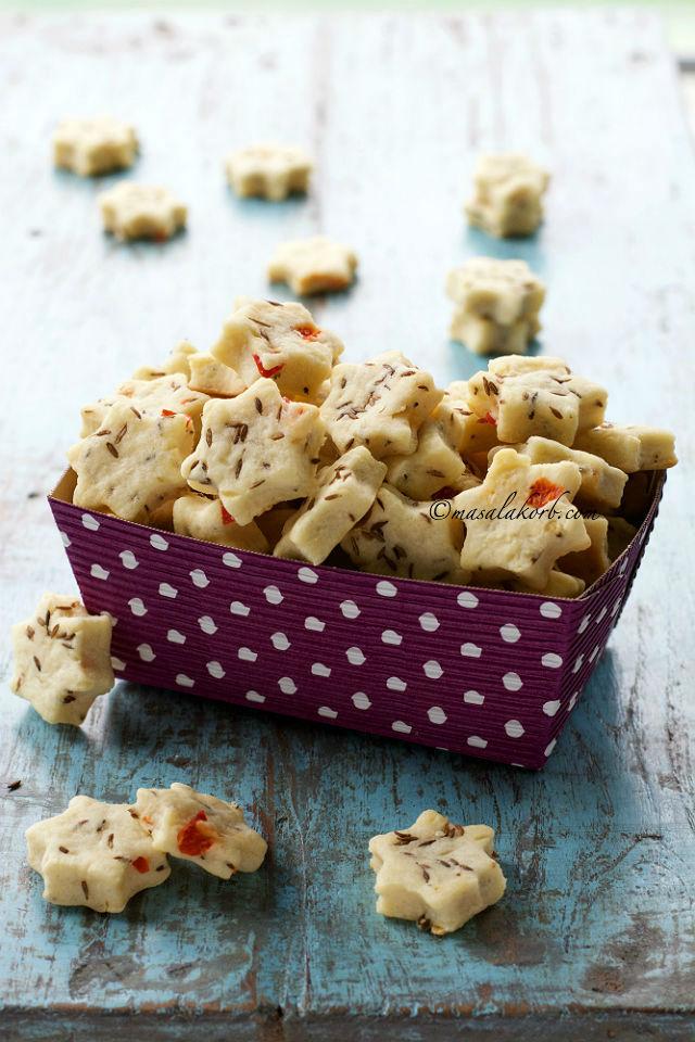 Eggless Jeera Biscuits Recipe Cumin Cookies Savoury Masalakorb