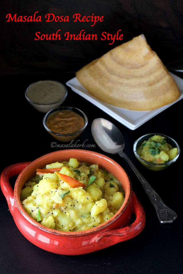 Masala Dosa Recipe South Indian Style