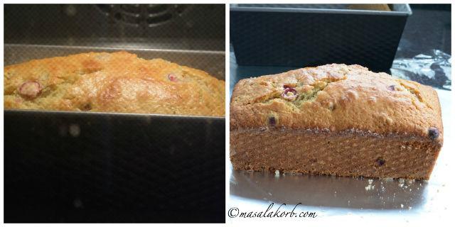 Cranberry Orange Walnut Bread with Orange Glaze