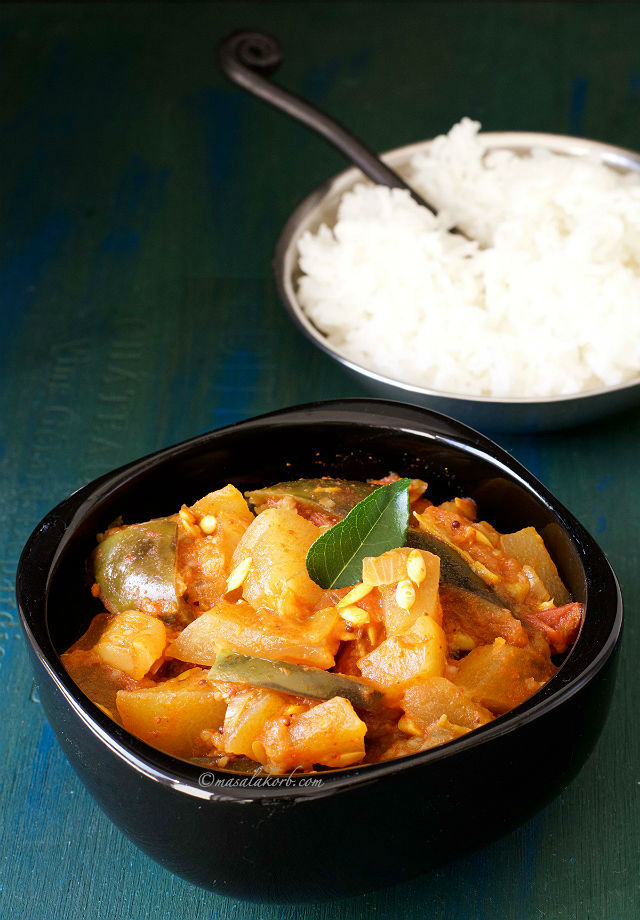 Dosakaya Tomato Curry Andhra Style, Yellow Cucumber Curry