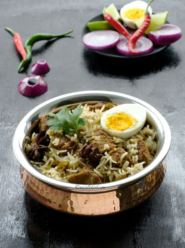 Mutton Biryani Recipe South Indian Style, Cooker Mutton Biryani