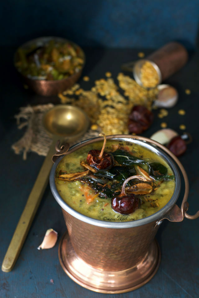 Palakura Pappu Andhra Style Spinach Palak Dal