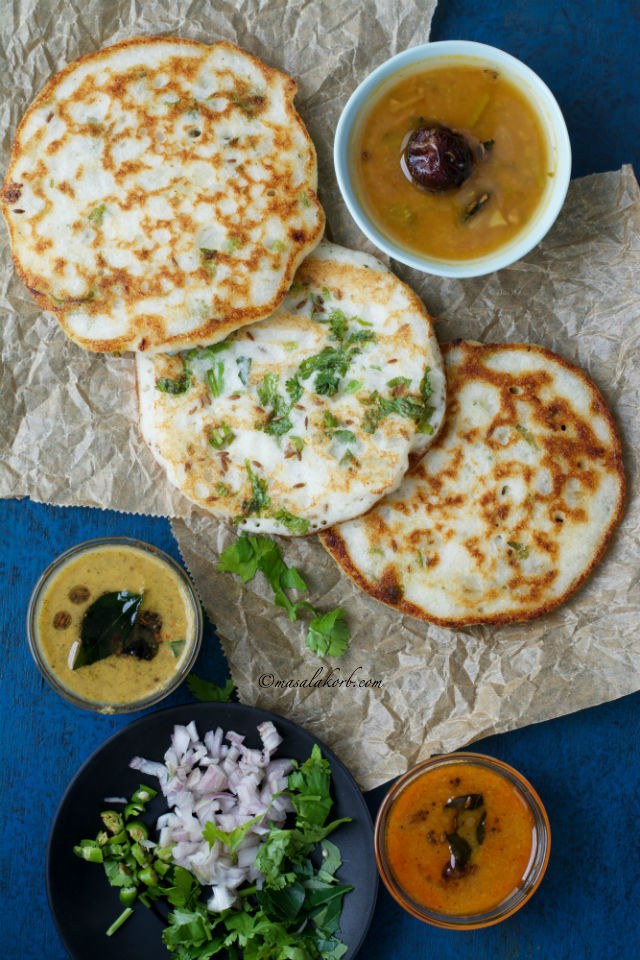 how to make uttapam batter with suji