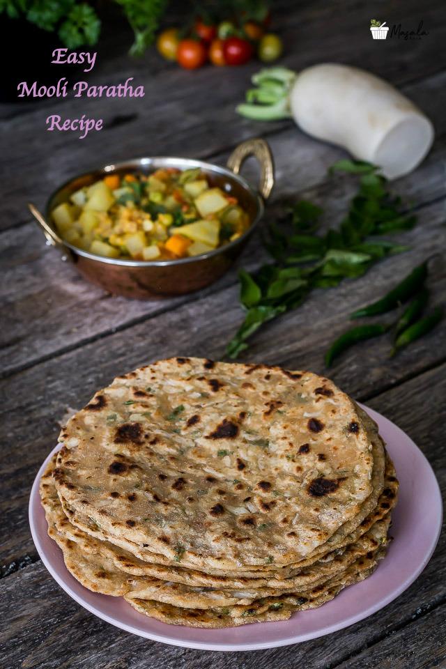 Easy Mooli Paratha Recipe | Radish Chapati | Muli Paratha ...