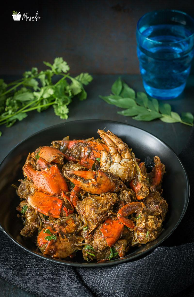 Crab Masala Fry Recipe Chettinad Nandu Varuval Crab Fry Masalakorb